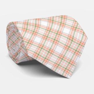 モモの緑の格子縞パターンタイ ネクタイ