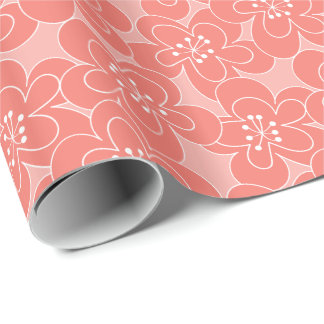 モモの花の包装紙 ラッピングペーパー