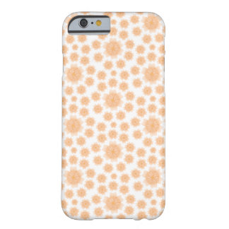 モモの花の放射状パターン- iPhone6ケース/Skin Barely There iPhone 6 ケース