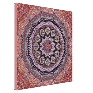 モモの花の曼荼羅 キャンバスプリント
