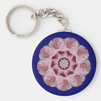 モモの花の曼荼羅 キーホルダー