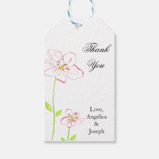 モモの花は結婚式のラベル感謝していしています ギフトタグ