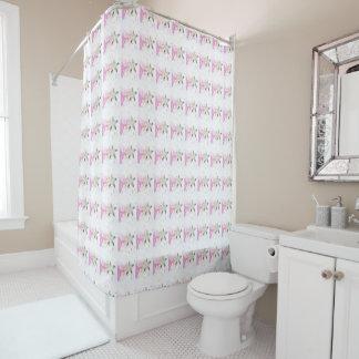モモの花パターン シャワーカーテン