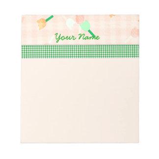 モモの花柄のメモ帳 ノートパッド
