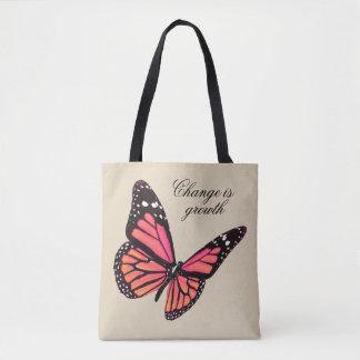 モモの蝶トート トートバッグ