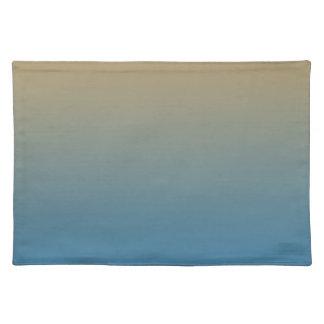 モモの青いグラデーション ランチョンマット