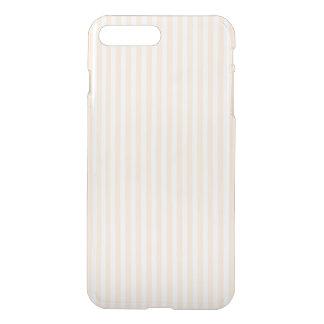 モモのAngelskinの淡い色のな珊瑚及び白のストライプ iPhone 8 Plus/7 Plus ケース