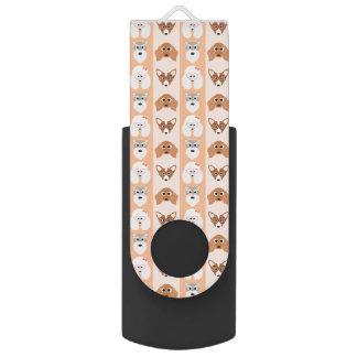 モモ犬は縞で飾ります USBフラッシュドライブ