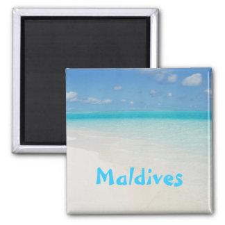 モルディブの新婚旅行のビーチの島場面 マグネット