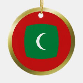モルディブの旗のオーナメント セラミックオーナメント