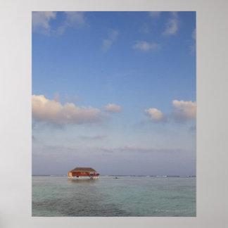 モルディブのMeemuの環礁、Medhufushiの島、贅沢 ポスター