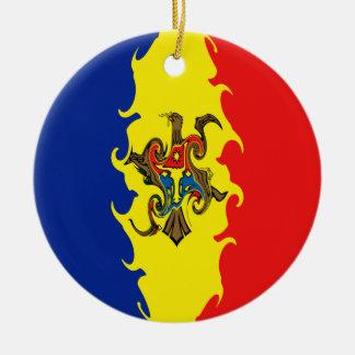 モルドバのすごい旗 セラミックオーナメント