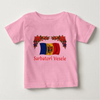 モルドバのクリスマス ベビーTシャツ