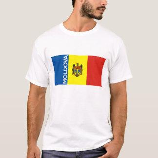モルドバの国旗の文字の名前 Tシャツ