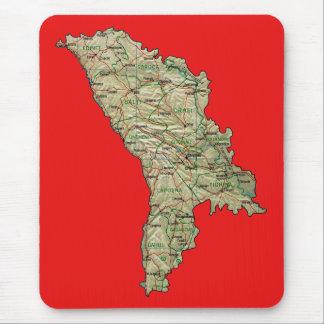 モルドバの地図のマウスパッド マウスパッド
