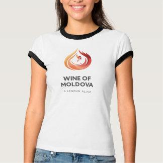 モルドバの女性のBellaの信号器のTシャツのワイン Tシャツ