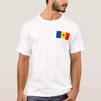 モルドバの旗および地図のTシャツ Tシャツ