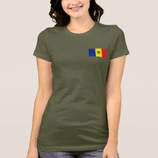 モルドバの旗および地図dkのTシャツ Tシャツ