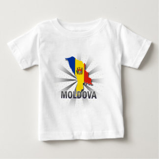 モルドバの旗の地図2.0 ベビーTシャツ
