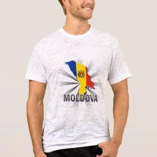 モルドバの旗の地図2.0 Tシャツ