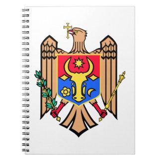 モルドバの紋章付き外衣 ノートブック