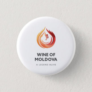 モルドバボタンのワイン 3.2CM 丸型バッジ
