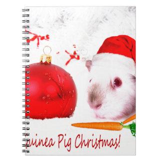 モルモットのクリスマスを持って下さい ノートブック
