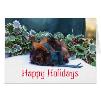 モルモットの休日の挨拶状 カード
