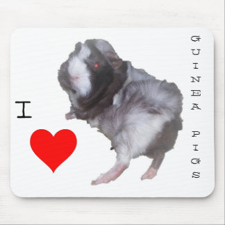 モルモットの恋人のマウスパッド マウスパッド