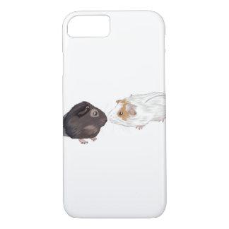モルモットの電話箱、モルモットの絵 iPhone 8/7ケース