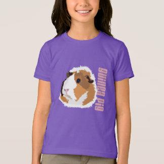 モルモットの「Elsie」のレトロの子供のTシャツ Tシャツ
