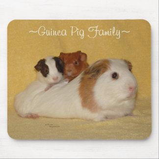 モルモット家族のマウスパッド マウスパッド