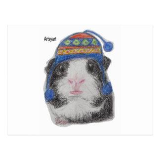 モルモットSHERPAの帽子 ポストカード