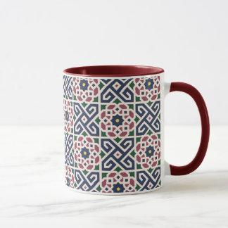 モロッコのアラビア陶磁器のデザインの信号器のマグ マグカップ