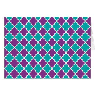 モロッコのクローバーパターン カード