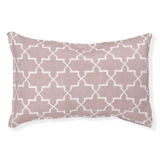 モロッコのクローバー犬のベッド、挨りだらけのピンク