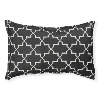モロッコのクローバー犬のベッド、黒または白