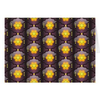 モロッコのスタイルの幾何学的な挨拶状 カード