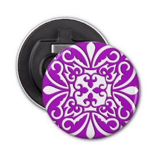 モロッコのタイル-すみれ色の紫色および白い 栓抜き