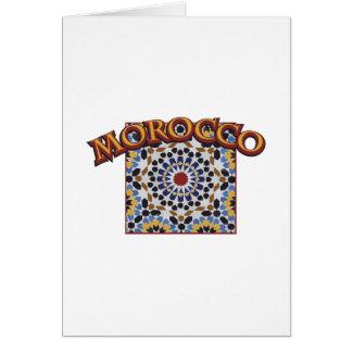 モロッコのタイル カード