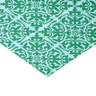 モロッコのタイル-ターコイズおよび水 薄葉紙