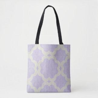 モロッコのデザインの薄紫のトートバック トートバッグ
