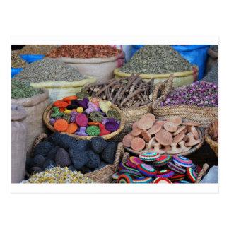 モロッコのハーブおよびスパイス ポストカード