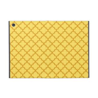モロッコのマスタードの黄色のタイルのデザインパターン上品 iPad MINI ケース