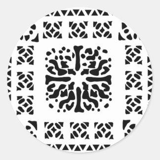 モロッコのランタンパターン ラウンドシール