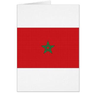 モロッコの国旗 カード