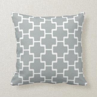 モロッコの幾何学的なパターン枕-パロマの灰色 クッション