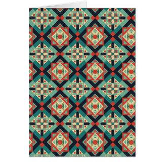 モロッコの幾何学的な文化1 カード