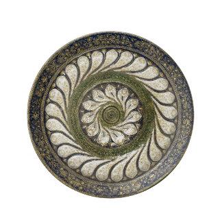 モロッコの手仕事のデザインの磁器皿 磁器プレート