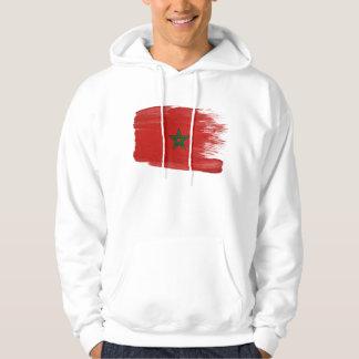 モロッコの旗のフード付きスウェットシャツ パーカ